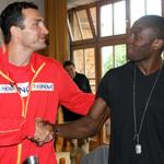 Чемпион мира в тяжелом весе выступает спарринг-партнером Владимира Кличко