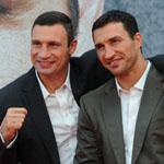 Виталий и Владимир Кличко на презентации фильма «Кличко» в Берлине