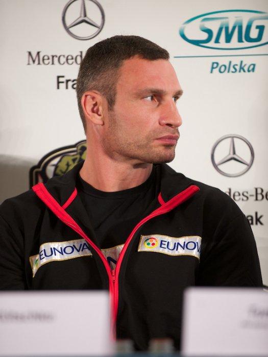 Фоторепортаж: Пресс-конференция Виталия Кличко и Томаша Адамека во Вроцлаве